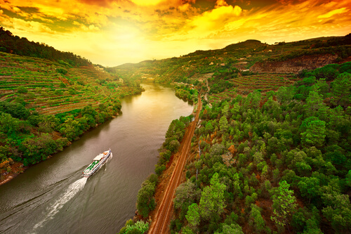 Douro Valley River Sunset