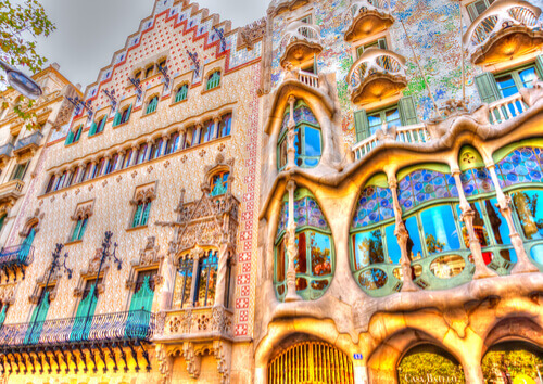 Gaudi's Casa Battlo Barcelona Spain