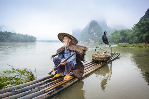 li river fisherman guilin china