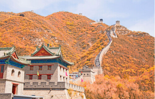 juyong pass in autumn, great wall of china