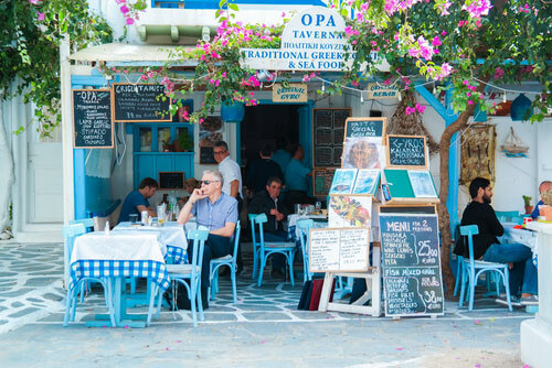 traditional taverna mykonos greece