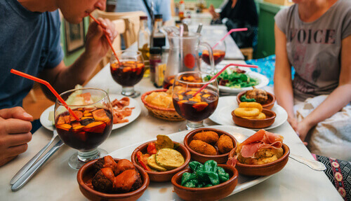 Tapas and Sangria Madrid Spain
