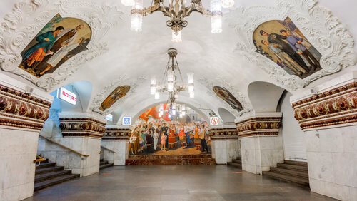 Moscow metro station russia
