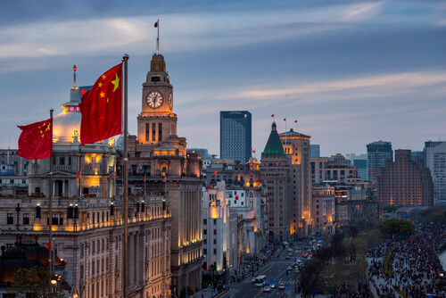 The Bund Aerial View