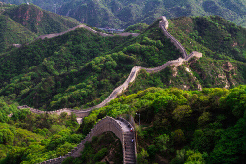 winding section of great wall of china