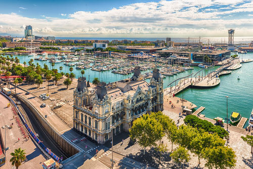 Port Vell barcelona spain