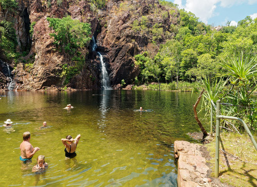wangi falls swimming hole northern territory au