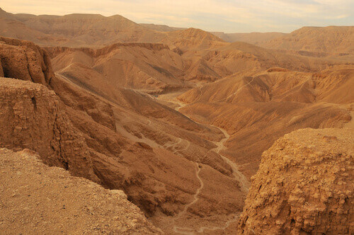valley of the kings at sunset egypt
