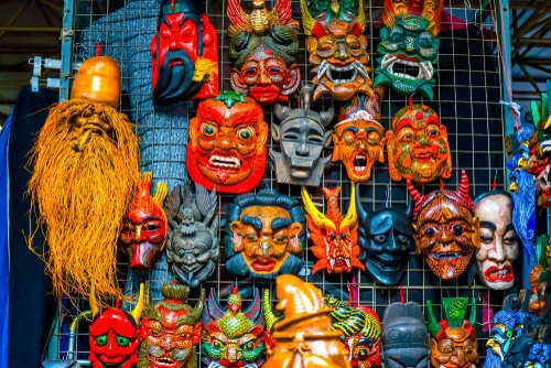 Masks at Beijing Market